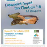 7/10: Ευρωπαϊκή Γιορτή Πουλιών στη λιμνοθάλασσα Μουστού στο Δ.Δ Μελιγούς.